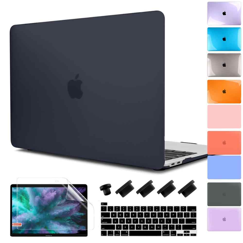 Voor Nieuwe Macbook Pro Air 13 15 16 Inch 2020 2019 A2289 A2179 A2159 Matte Clear Laptop Case Met Toetsenbord cover & Screen Film
