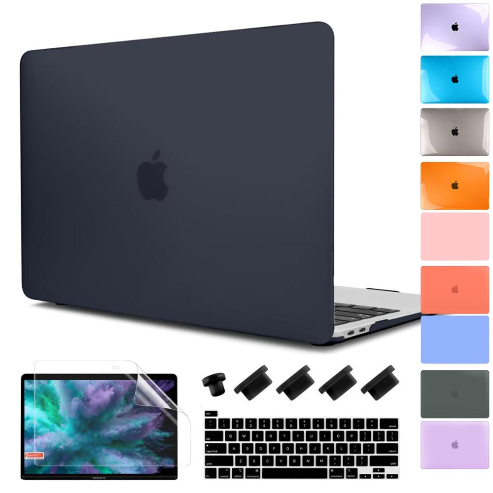 Batianda For New MacBook Pro 16 Inch 2019 Matte Clear Laptop Case With Keyboard Cover & Screen Protector A2141 Model