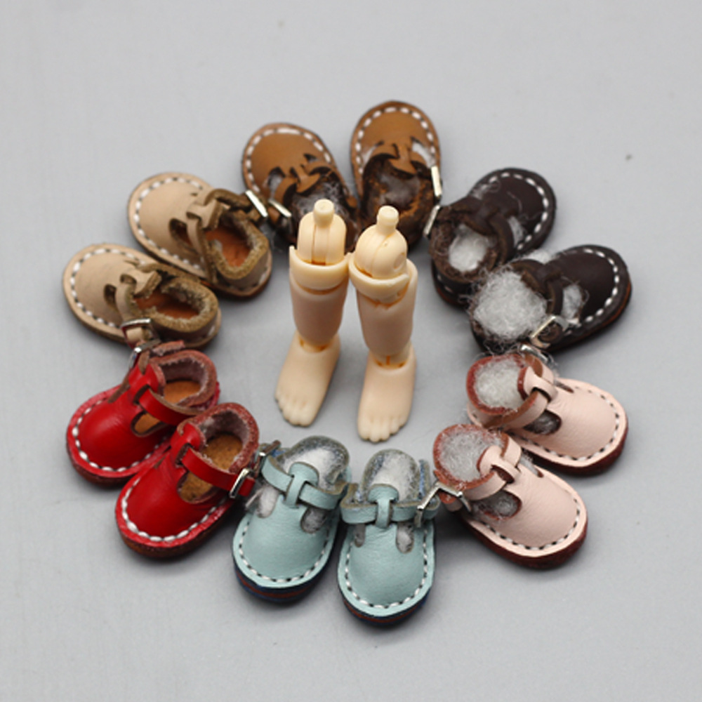 Ob11 chaussures poupée en cuir chaussures OB11 en cuir chaussures (adapté pour Ob11, obitsu11, milieu Bl yth, cu-poche) accessoires de poupée