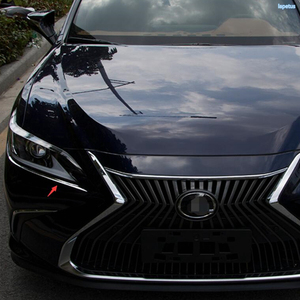 Image 3 - Lapetus Front Head Lights Lamp Eyelid Eyebrow Decoration Frame Cover Trim 2 Piece Stainless Steel For Lexus ES 2018   2021