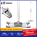 DEKO X-type Microfiber Floor Mop Cloth Replaceable Hand Free Cleaner Wash Flat Mop House Cleaning Tool Manual Extrusion Lazy Mop