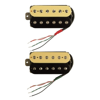 цена на 2 Pcs Electric Guitar Humbucker Pickups Alnico V Pickup (Zebra + Black), Neck Pickup & Bridge Pickup