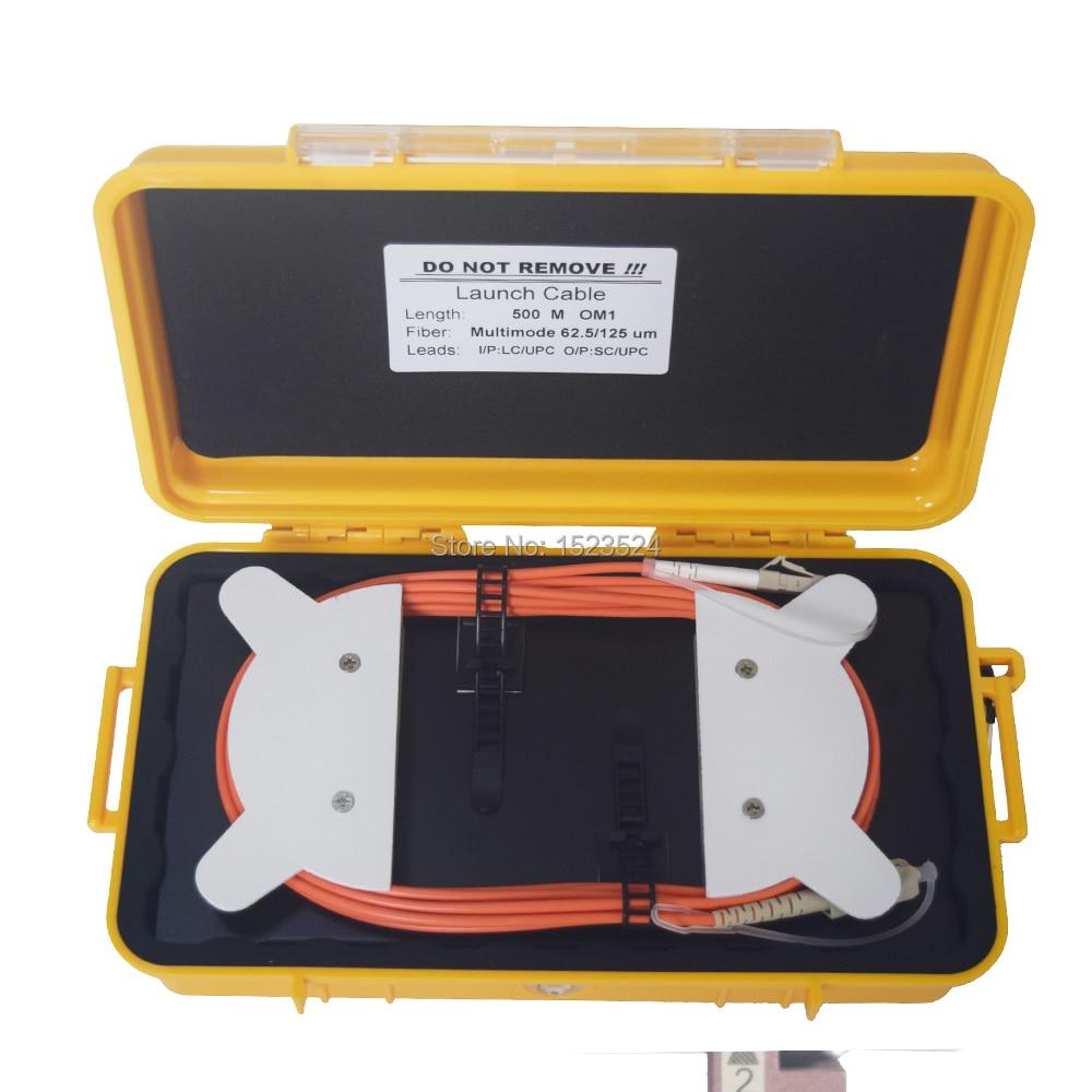 OTDR Dead Zone Eliminator,Fiber Rings ,Fiber Optic OTDR Launch Cable Box MM OM1 62.5/125 LC/UPC-SC/UPC 500M