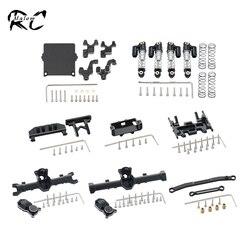 Корпус оси из алюминиевого сплава, крепление на передний бампер, амортизатор, набор звеньев рулевого управления для 1/24 RC Crawler Axial SCX24 AXI90081 ...