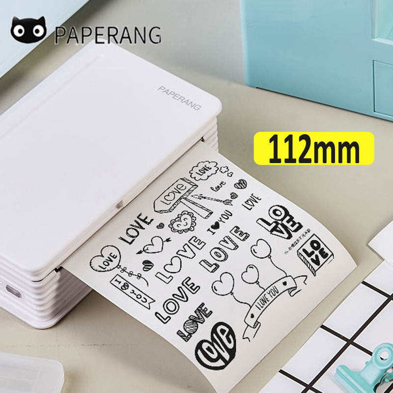 Paperang 112mm Mini Pocket Photo Printer Portable Thermal Bluetooth Printer For Mobile Android IOS Phone.