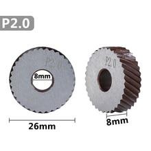 2 pcs 2.0mm metal lathe wheel knurling tools diagonal coarse knurling wheel
