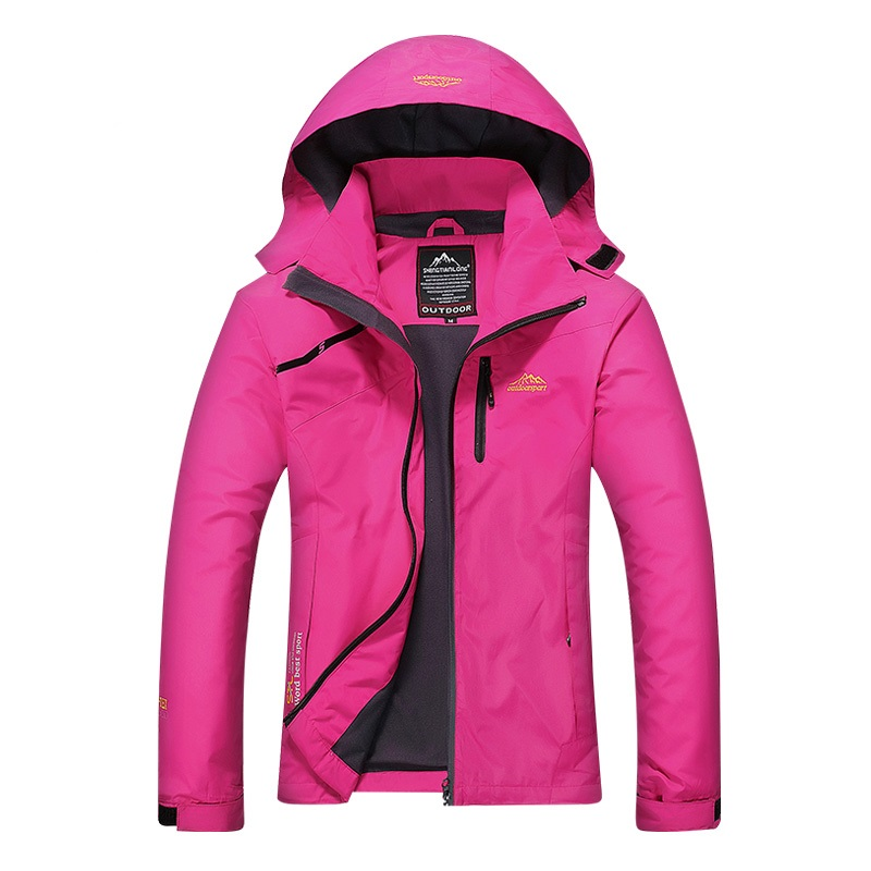 H4d27e39e302446f2b68bb3c7327bdce6i Women's Casual Waterproof Windproof Jacket Hooded Coat Spring Autumn Breathable Tourism Mountain Windbreaker Jackets Female