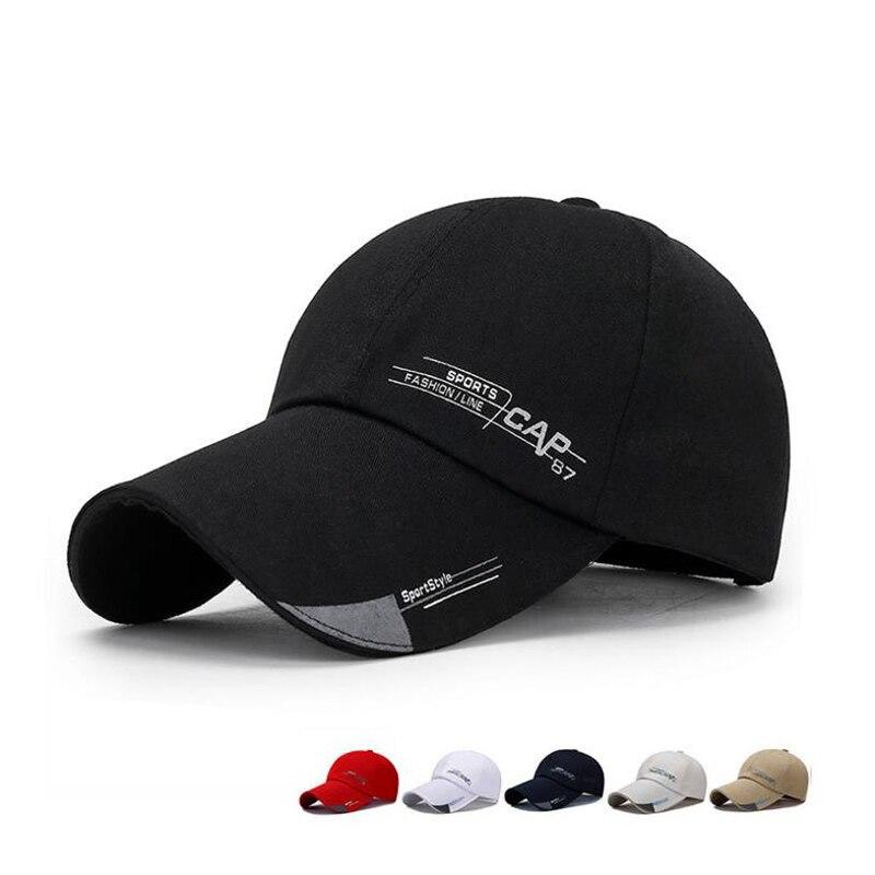 LA 2019 Sports Cap Mens Hat For Fish Outdoor Fashion Line Baseball Cap Long Visor Brim Shade Snapback Sun Hat Bone Gorras