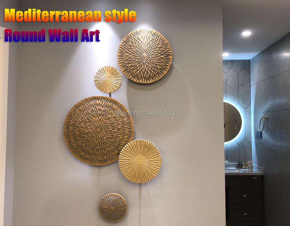 2020 New Mediterranean Style Round Wall Decorations Wall Hanging Decorations Art Living Room Decoration Crafts TV Background