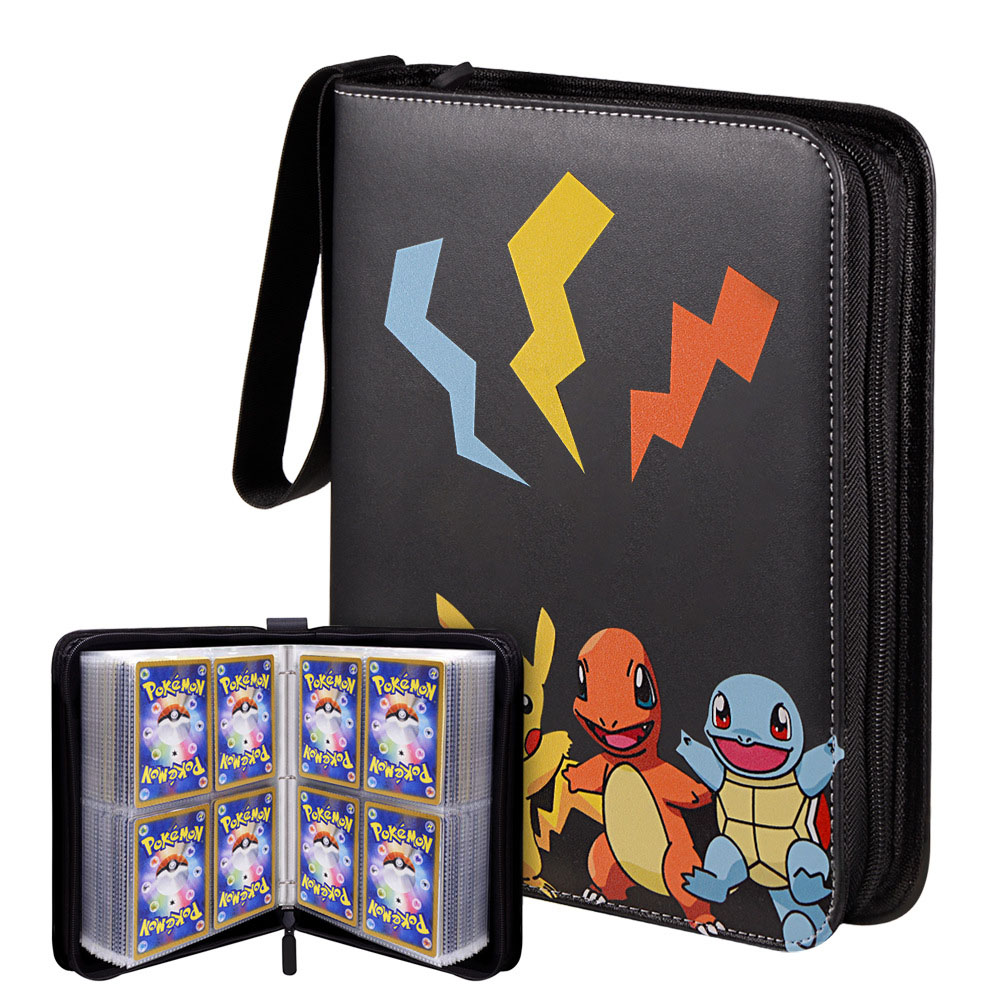 Pokemon Double Pocket Binder Cards Collectors Album Anime Game Card Portable Storage Case Top Loaded List Toy Gift for Kid
