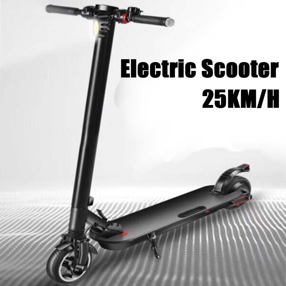 350W Adult Electric Scooter Foldable Portable Electric Bike 100-240V Black Accessories E-bike Electric Scooters With Two Wheels