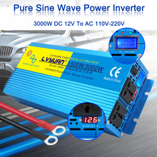 PURE SINE WAVE POWER INVERTER 3000W LED Digital Display DC 12V To AC 110V/220V 3KW Charger Adapter Converter Auto Accessories