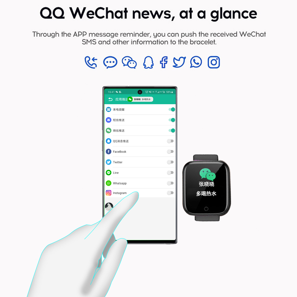 Smart Watch Women Men Smartwatch Bluetooth Blood Heart Rate Monitor Sport Pressure fitness watch for IOS Android Smart Watch 2