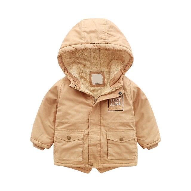 2019 enfants garçon fermeture éclair chemise hiver nouveau petites et moyennes enfants lettre broderie avec coton épaissi