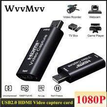 4K HDMI к USB 2,0 Карта видеозахвата мини 1080P игра Запись коробка для PS4 игра для Youtube OBS потоковая трансляция в прямом эфире