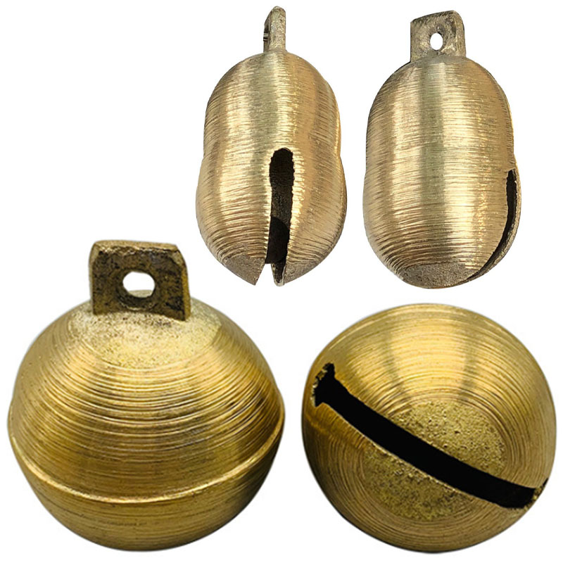 Brass Copper Bell 10pcs For Cow Horse Sheep Grazing Dog Cattle Animals Anti-Lost Loud Sound Jingle Bell Christmas Ornament Bells