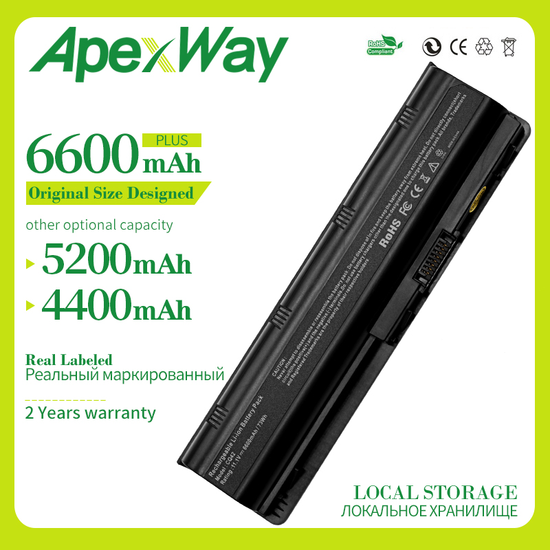 Apexway MU06 593553-001Laptop Battery For HP Compaq Pavilion DM4 DM4T CQ42 Hstnn-lb0w G6 G4 G61 G7 MU09 NBP6A174B1 HSTNN-UB0W