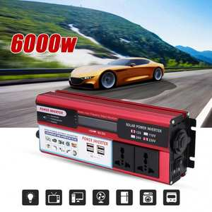 Inverter Usb-Charger Display-Phone Wave Solar-Power Digital 6000W 4