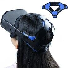 נוח עור מפוצל החלקה ראש רצועת קצף Pad עבור צוהר Quest/quest 2 vr אוזניות כרית סרט תיקון אבזרים