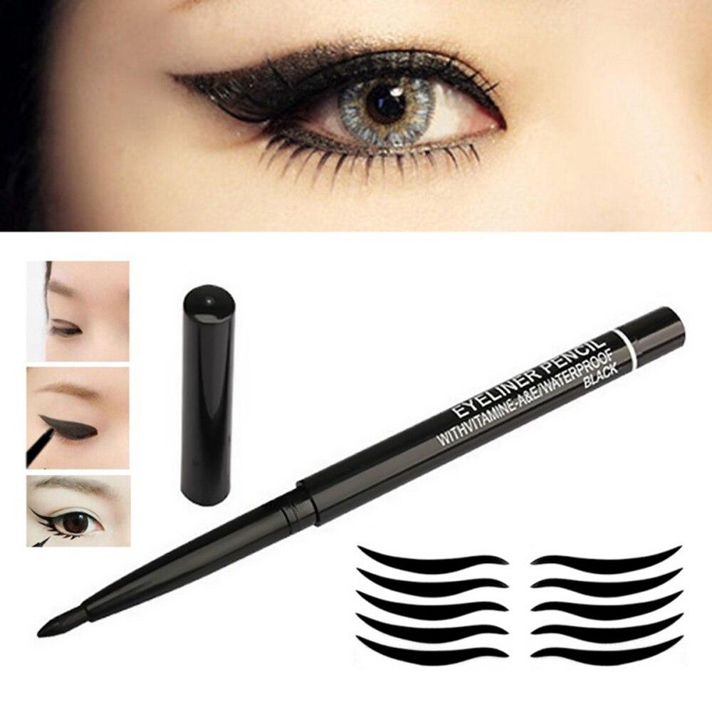 1pcs Black Eyeliner Pencil Long Lasting Non-fade Cosmetics Makeup Eye Liner Pen Rotating Waterproof Easy To Wear Tools TSLM2