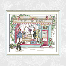 Ladies fashion Store Paintings Handwork Beginner Embroidery Sets Aida Canvas Cross-stitch 11CT 14CT Wholesale Needlework