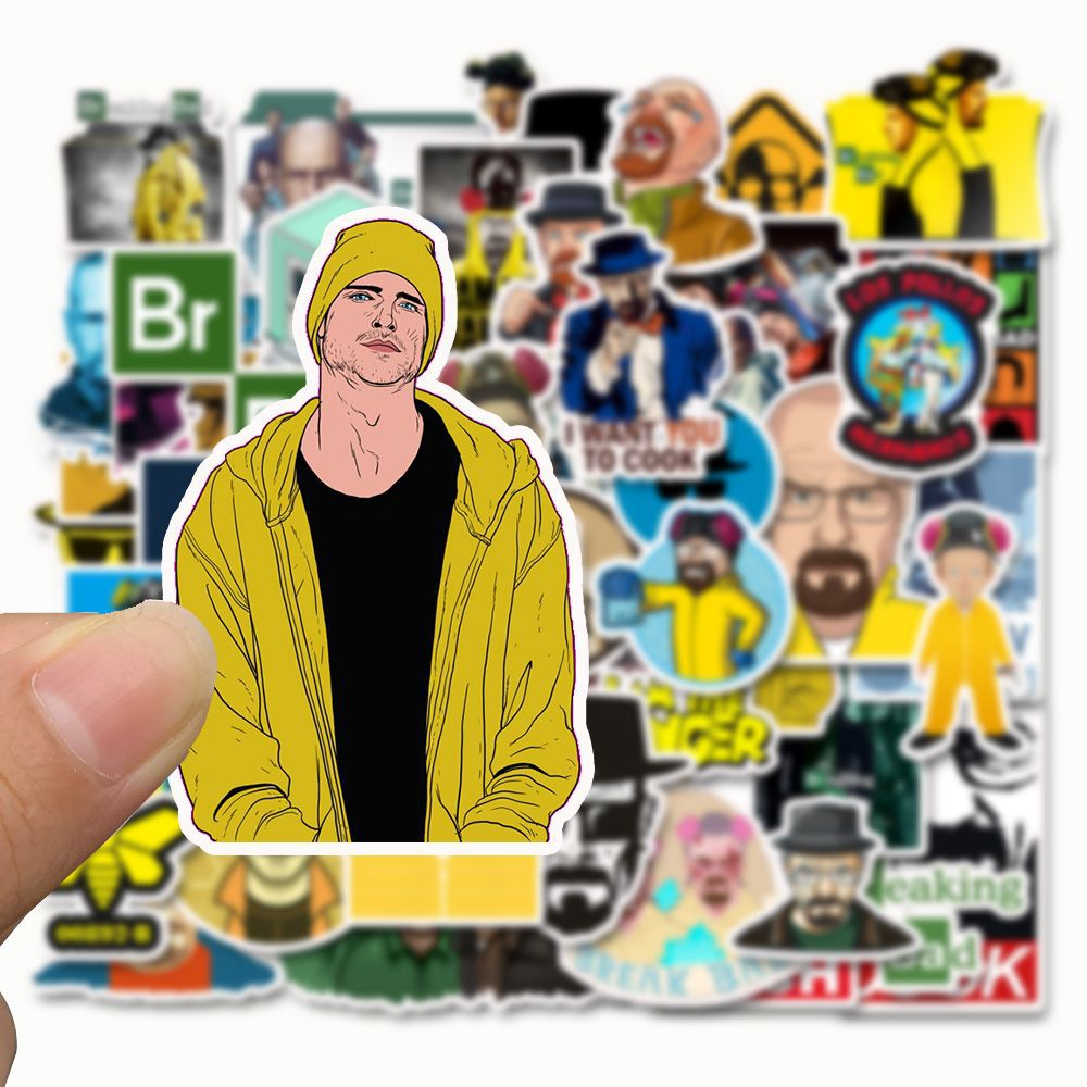 50pcs Breaking Bad Stickers Creative Design Doodle Laptop Lugggae Wall Stickers