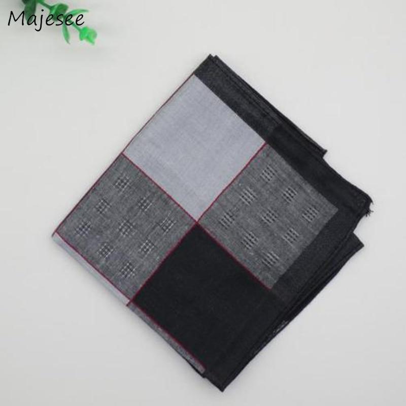 Handkerchiefs Women Simple Striped Plaid Classic Vintage Elegant Womens Handkerchief Casual Trendy Various Color Cotton Soft New