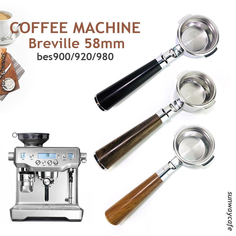 Фильтр Breville 58 мм BES900/920/980 для кофе без дна, портативный фильтр из нержавеющей стали, Сменный фильтр, корзина, инструменты для кафе и кофе