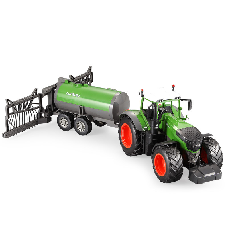 JTY Toys <font><b>RC</b></font> <font><b>Car</b></font> 2.4G Simulation Farmer Watering <font><b>Car</b></font> 1/16 Mini Farm Trailer Vehicle Remote Control Truck Radio Toy For Children image