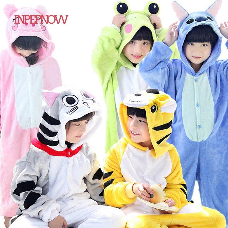 Stitch Children Pajamas Unicorn Kids Pajama Set One Piece Pajama Warm Winter Girl Clothes Boy Pijama Infantil Unicornio SY-CZX6