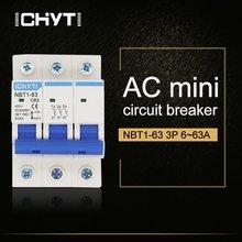 Домашний миниатюрный выключатель c типа ac mcb nbt1 63 3p 6a