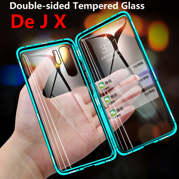 360 Full Protection Magnetic Case For Samsung S10 S20 S9 S8 Plus Lite Uitra A71 A70 A51 A50 A31 A30 Note 10 9 8 PlusDouble Glass 1