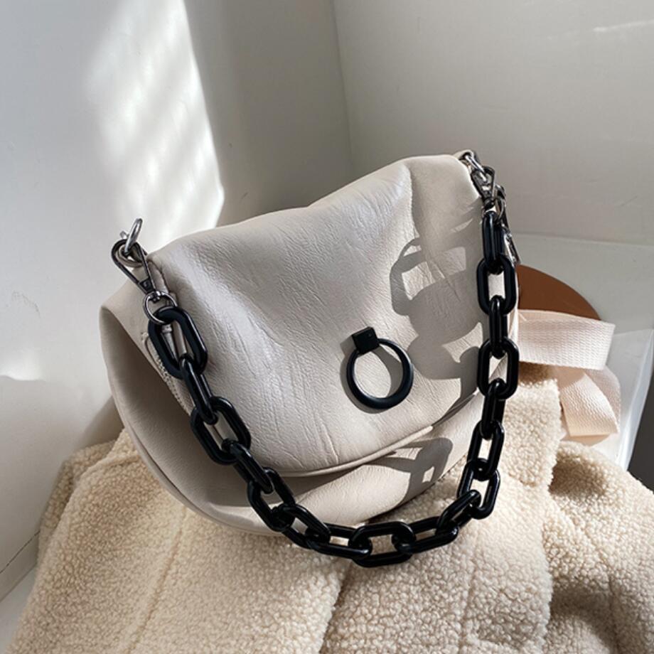 Vintage Fashion Female Chain Tote Bag 2019 New High Quality PU Leather Women's Designer Handbag Travel Shoulder Messenger Bag