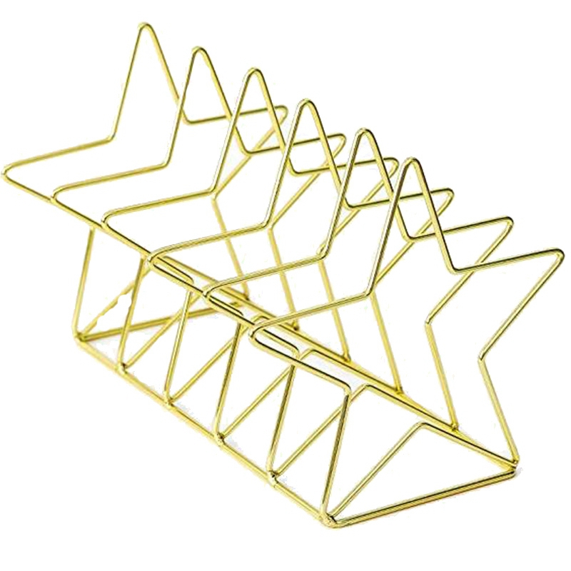 Gold S Shape Electroplated Bookend Desk Organizer Desktop Office Home Bookends Book Holder Book Stand Creative Bookshelf Storage