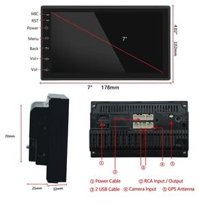 """Image 3 - Автомобильный мультимедийный плеер, Android 2 din, радио, встроенный с сенсорным экраном, FM, DAB, BT, GPS, Wi Fi, без DVD, 7 """"HD, автомобильная аудионавигация, 2DIN"""