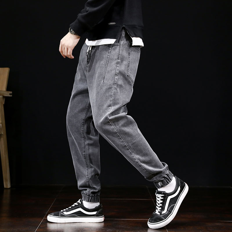 Autumn Fashion Men Jeans Japanese Style Vintage Loose Harem Jeans Slack Bottoms Streetwear Hip Hop Jeans Men Joggers Size 28-42