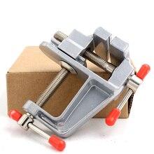 цена на Universal Bench Vise Mini Table Screw Vise Aluminium Alloy 30mm Bench Clamp Screw Vise for DIY Craft Mold Fixed Repair Tool