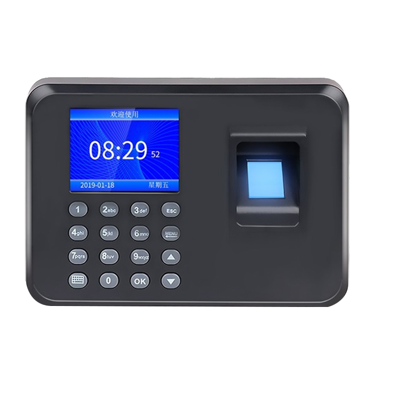 ABKT-Biometric Fingerprint Attendance Machine LCD Display USB Fingerprint Attendance System Time Clock Employee Checking-In Reco