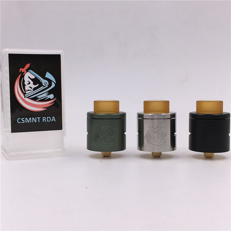 Newest CSMNT RDA Rebuildable Dripping Atomizer COSMONAUT Peek Insulator Adjustable Airflow Control 24mm Fit 510 Vape Mods