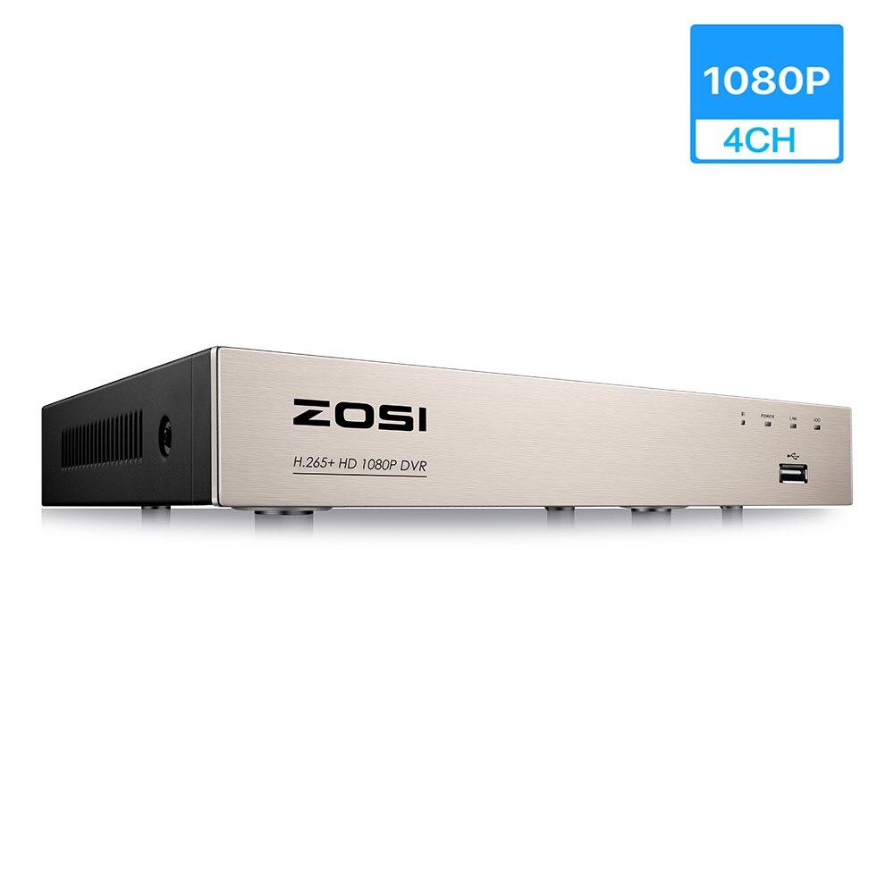 ZOSI 4 canaux TVI 1080P DVR, enregistreur DVR de sécurité avec HDMI, lecture, Internet et Smartphone Accessible à distance, alarme
