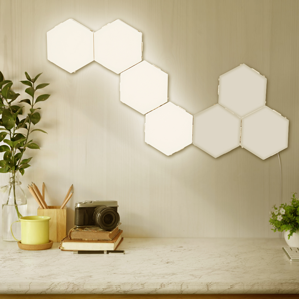 Quantum Lamp Led Touch Night Light Hexagonal Wall Lamps Home Decoration Accessories Fairy Lights For Living Room Decoration