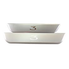 Stainless Steel Door Sill Protector , for Tesla Model 3 Rear Door Sills Wrap Kit Protection (Set Of 2)