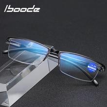 Presbyopia Glasses Half-Frame Business-Reading Iboode Anti-Blue Women Rays