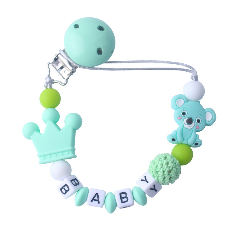 Infant Colorful Beads Pacifier Chain Nipple Holder Soother Clip Chew Toy