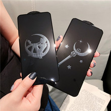 FAYANG Full Tempered Film For Iphone xs max xr x Beautiful Girl Cartoon Patterned Glass IPHONE xsmax