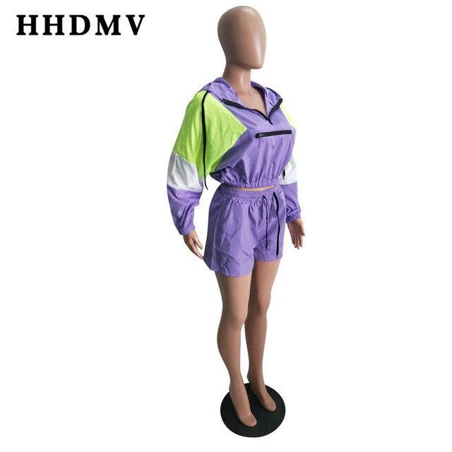 Women long sleeve movement purple two piece set 4
