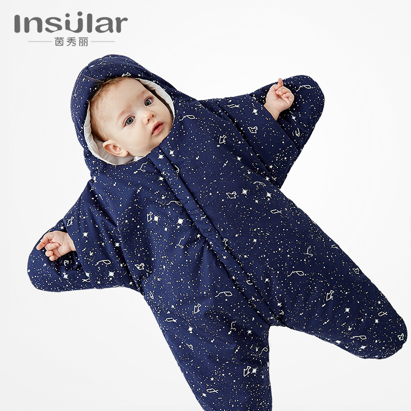 Insular Cotton Four Seasons Cartoon Starfish Infant Sleeping Bag BABY'S BLANKET Newborns Baby Pure Cotton Legs Sleeping Bag Whol