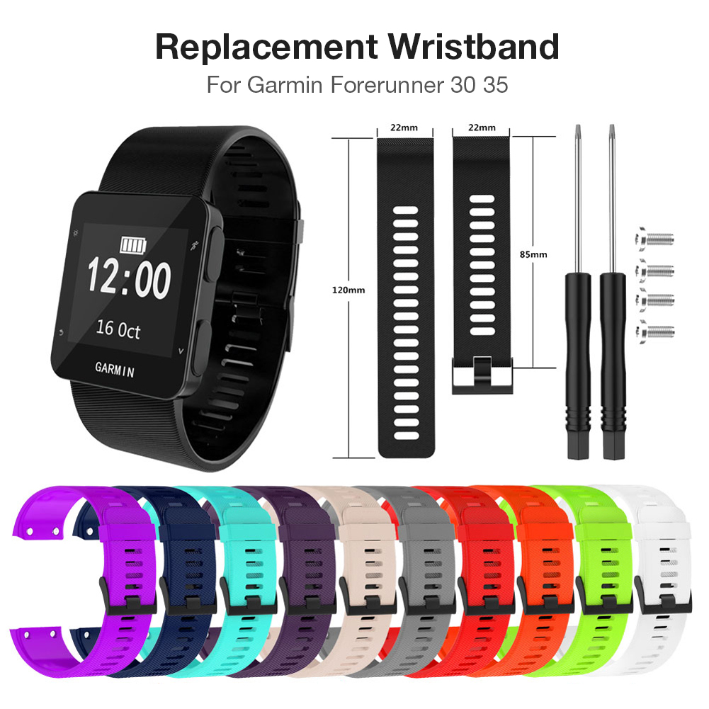 2019 Newest For Garmin Forerunner 35 30 Replace Silicone Watch Strap Wristband & Tools UK