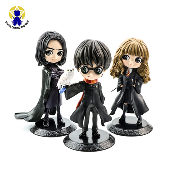 цена на 15CM Bright Big Eyes Harry Hermione Snape PVC Anime Figure Dolls Collectible Action Figure Q Version Model Adult Toys