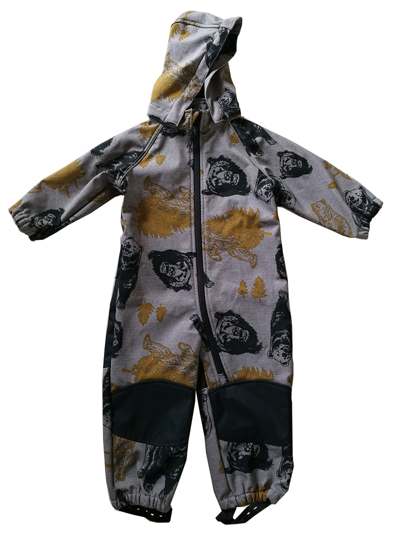 High Quality Baby Boys/girls Softshell Jumpsuit, Windproof, Waterpoof Cartoon Jumpsuit
